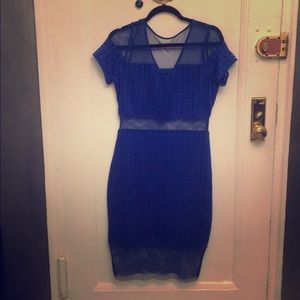 Electric Blue Dress. Well made.